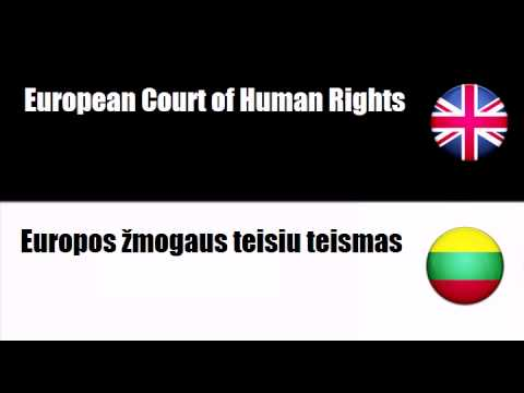 ENGLISH LITHUANIAN   Court of Justice of the European Communities