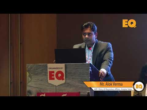Alok Verma, AVP- Policy & Regulatory Affairs, Amplus Solar at EQ Suryacon Ahmedabad