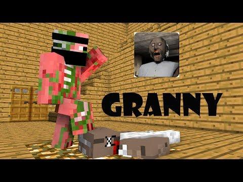 Monster School : GRANNY HORROR GAME CHALLENGE - Minecraft Animation