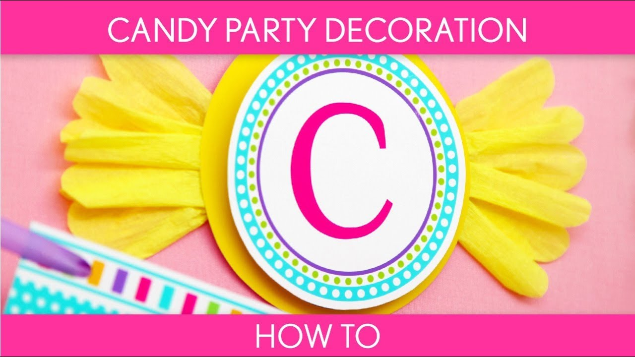 How to Make Candy Party Decoration (Birthday Party) // Candyland - B39 - YouTube  sc 1 st  YouTube & How to Make: Candy Party Decoration (Birthday Party) // Candyland ...