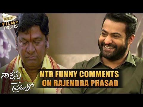 NTR Funny Comments on Rajendra Prasad || Nannaku Prematho Interview - Filmy Focus