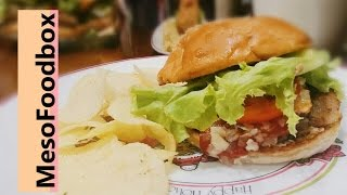 Easy Basic Pork Burger With Grated Cheddar Cheese Recipe