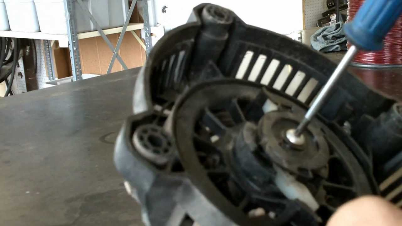 small resolution of  lawn mower repair kawasaki fj180v kai starter repair youtube