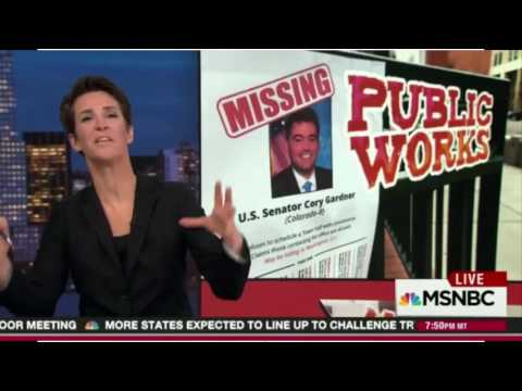 "Rachel Maddow praises Colorado Gardner protests: ""it"