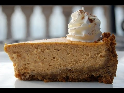Dessert Recipe: Pumpkin Cheesecake with Gingersnap Crust by Everyday Gourmet with Blakely