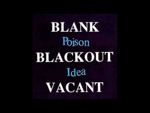 POISON IDEA - Blank blackout vacant full album (7inch bonus)