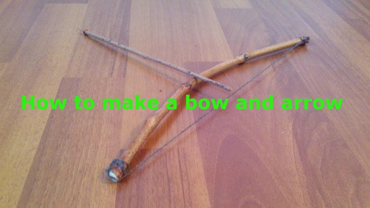 How to make a bow and arrow at home for hunting. mini bow easy homemade. homemade bow and arrows