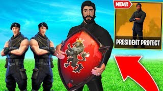 Fortnite PROTECT the PRESIDENT mode.. Could you do THIS..?! (Fortnite Battle Royale)