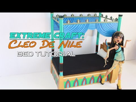 How to make: an accurate Cleo De Nile egyptian doll bed from Monster High