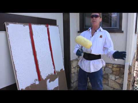 Paint roller for easy and quick textures, nap finish plastering