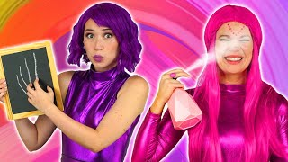 SUPER POPS TRY NOT TO FLINCH CHALLENGE. Totally TV Challenges.