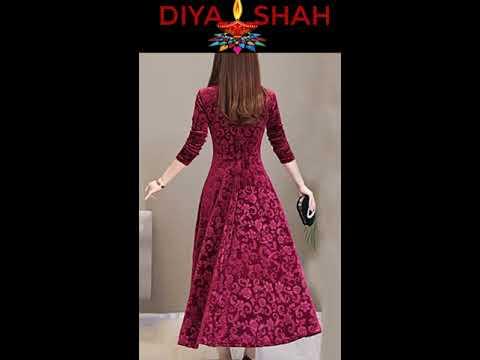 Velvet Frocks from Diya Shah Collection I Velvet Suits I Velvet Dresses I Diya's Velvet Collect