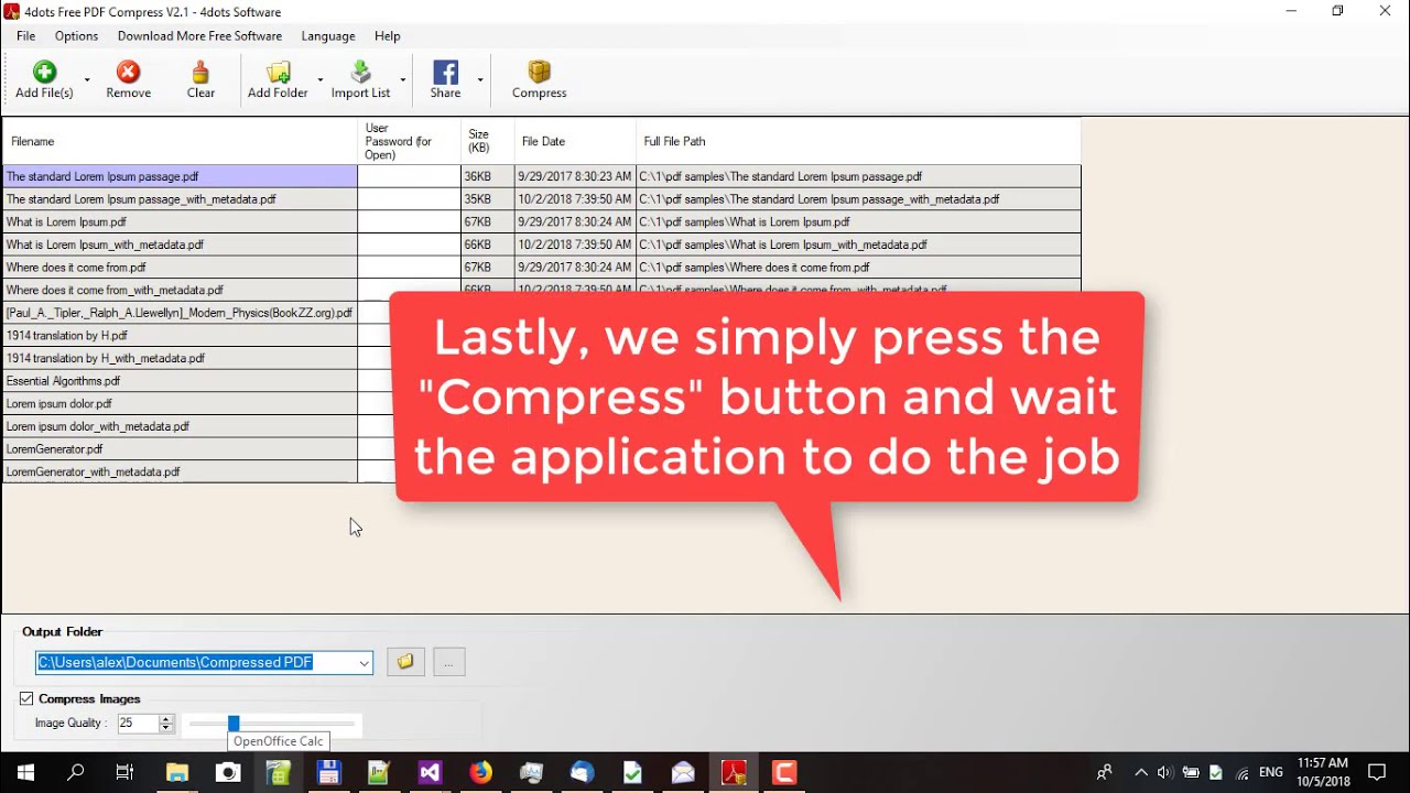 4dots Free PDF Compress - How to Use