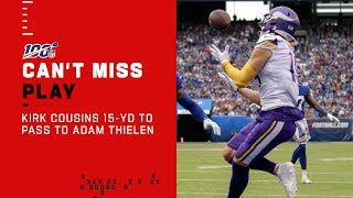 Kirk Cousins Hits Adam Thielen w/ a Beautiful TD Pass