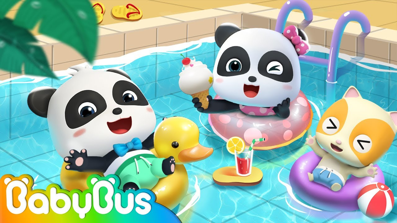Five little Babies Swimming Song | Monsters Song, Baby Shark | Nursery Rhymes | Kids Songs | BabyBus
