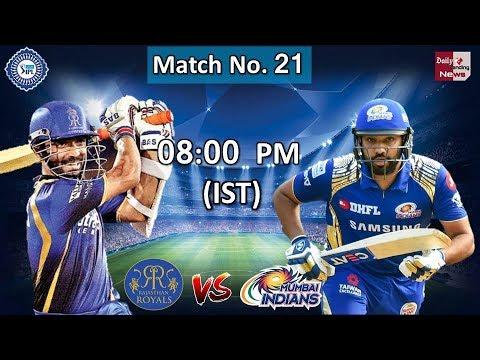 Vivo IPL 2018: Rajasthan Royals Vs Mumbai Indians Live Today 08:00 at SMS Stadium, Jaipur !!