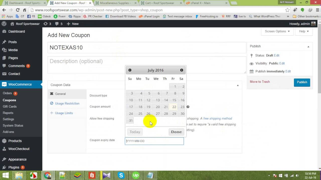 How to add coupon codegift card codediscount code for discount how to add coupon codegift card codediscount code for discount the cart in woocommerce xflitez Image collections