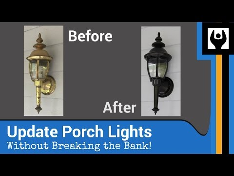 Update Porch Lights For Less Than $10