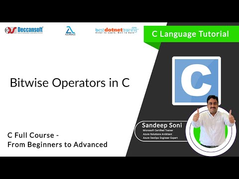 Bitwise Operators in C | Introduction to Bitwise Operators - C language Tutorial