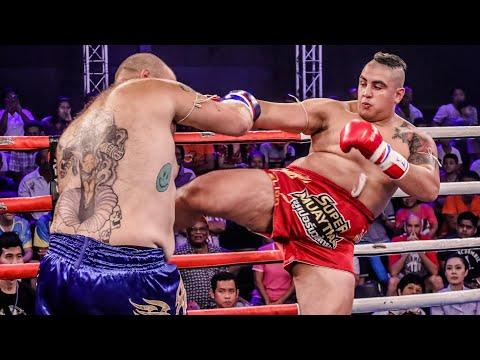 Super Heavyweight World Title Muay Thai Fight |  Yassine Boughanem Vs Steven Banks