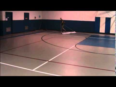 Cleaning a Synthetic or Rubber Floor