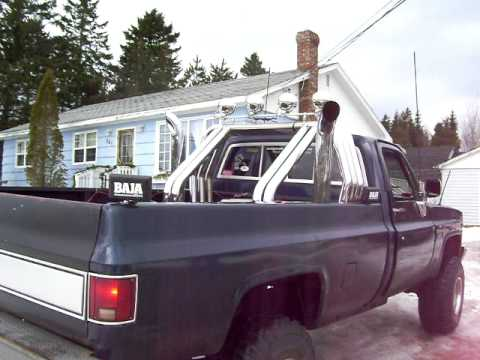 1983 Chevy 350 With Stacks Youtube