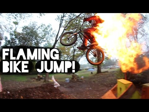 Dirty Bike Jump on FIRE!