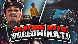 Playing NBA 2K19 With SoLLUMINATI PART 2 HES GOT THE BEST JUMPSHOT EVER