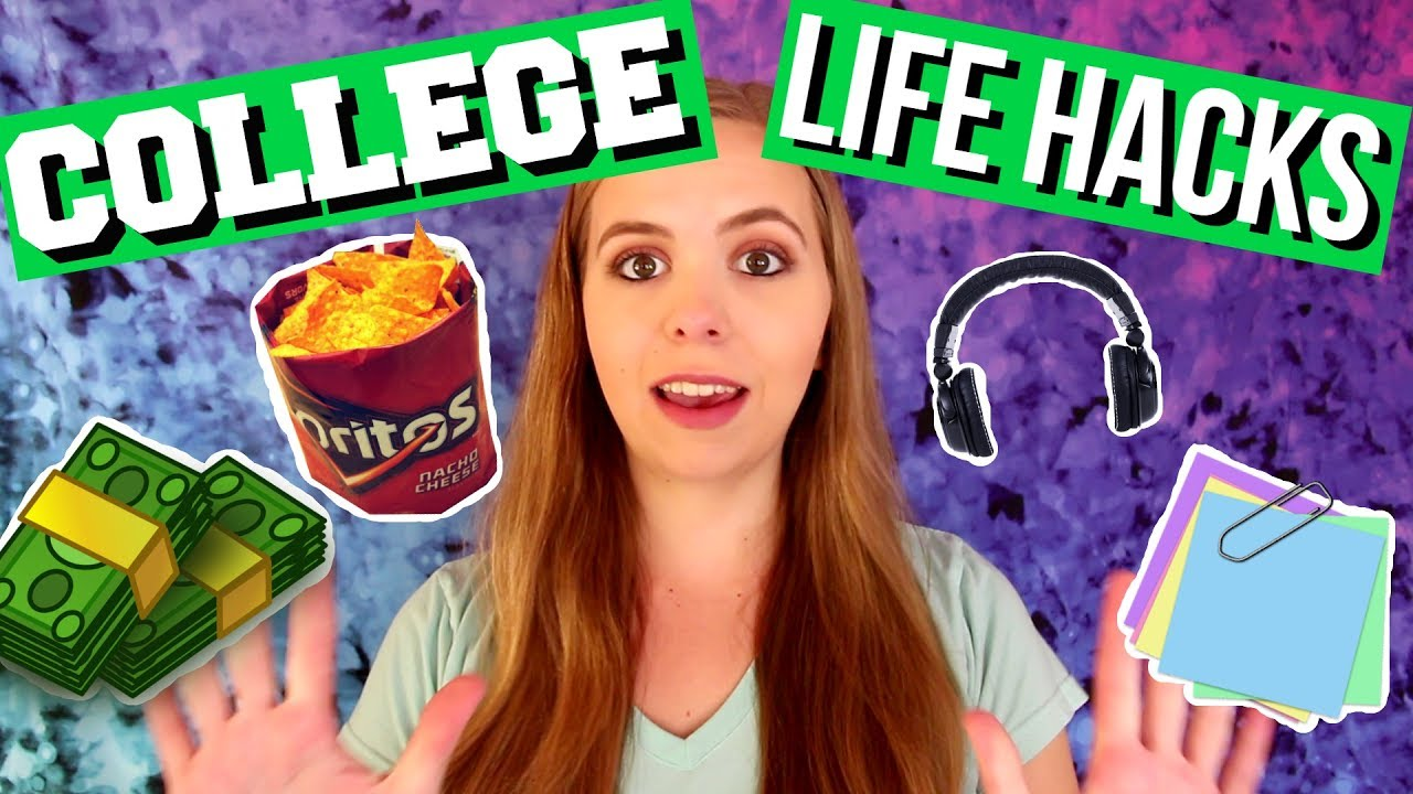 10 Life Hacks for Lazy College Students! - YouTube