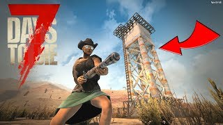 HORDE NIGHT on a WATER TOWER!! - 7 Days to Die Gameplay - Ep. 8