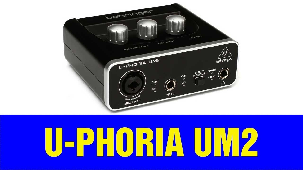 Interface de Áudio para Home Studio Behringer  U-Phoria Um2 - Unboxing