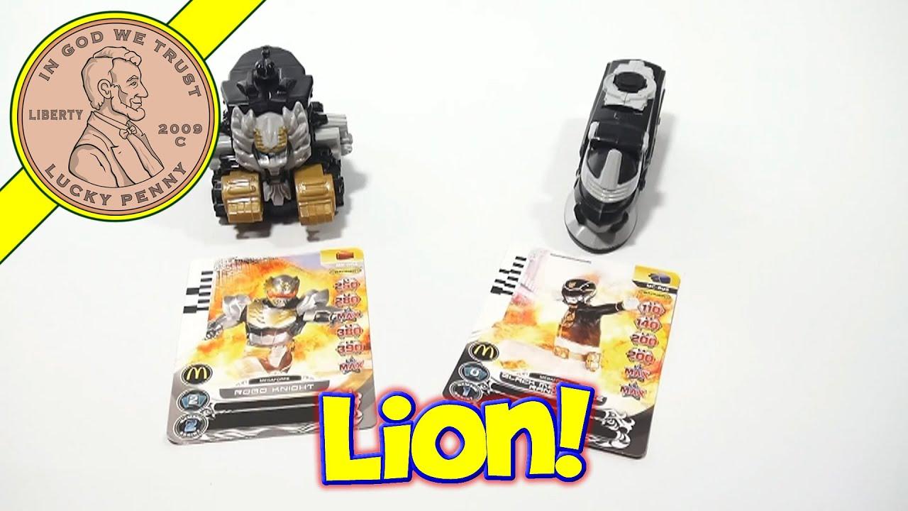 Power Rangers Megaforce 3 Lion & 4 Snake Mechazord 2013