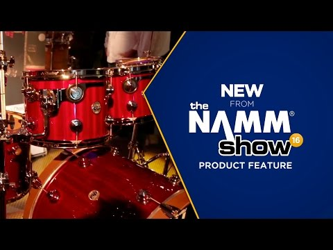 Live at NAMM 2016 - DW drums Cherry Mahogany Collector's Series Shell Pack
