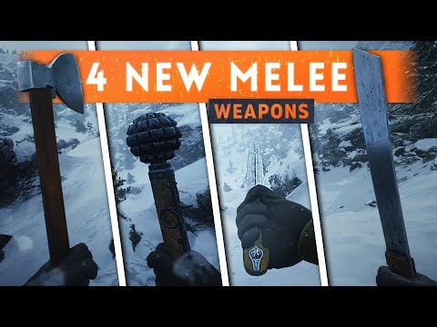 ► 4 NEW MELEE WEAPONS REVEALED! - Battlefield 1 Lupkow Pass (In The Name Of The Tsar DLC)