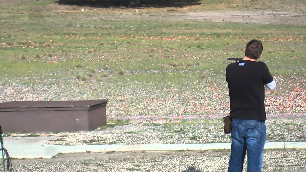 Kenny Trap Shooting with the Mossberg 500 Tactical w/Red Dot Holo