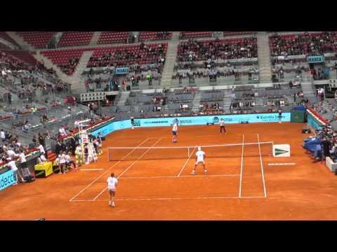 Rafael Nadal Garbiñe Muguruza vs Marat Safin Simona Halep - Master Madrid 2016