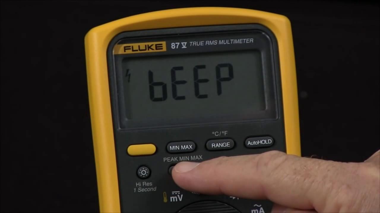 secret functions on the fluke 87v digital multimeter