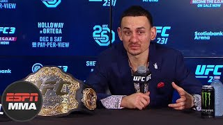 post-fight press conference