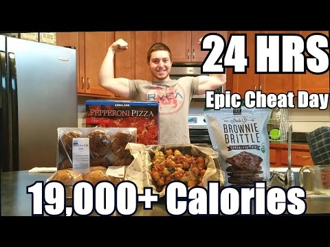 24 Hour Calorie Challenge | 19000+ Calorie Cheat Day