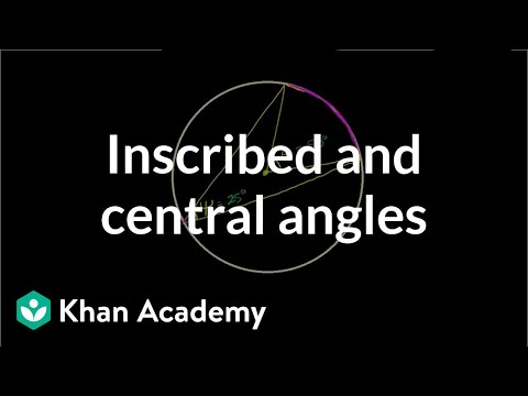 Inscribed and central angles | Circles | Geometry | Khan Academy