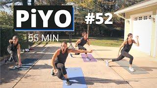 Yoga & Pilates PiYO #52 | At HOME Workout | No Equipment Strength + Tone + Cardio | Yoga Flow