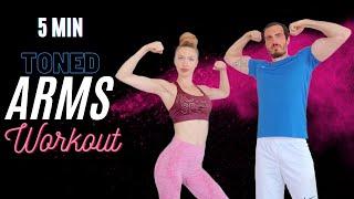 5 dakikada SADECE DUMBBELL İLE KOL ANTRENMANI || HER GÜN BİR BÖLGE #2 | 5min ARMS Workout