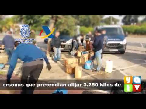 📰 #SUCESOS Intervenidos 3.250 kilos de hachís y detenidas 8 personas