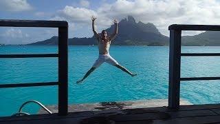 Backflip fun St Regis Bora Bora in room 103 - Premier Overwater Villa w/ Jacuzzi during Honeymoon