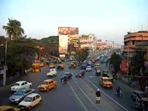 Kolkata(Calcutta) Traffic at Ballygunge