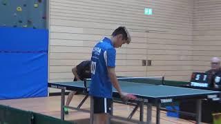 Mike Hollo vs Nick Deng 1  Bayer  Jugendm  Ansbach 20181208 Table Tennis Zoom  8