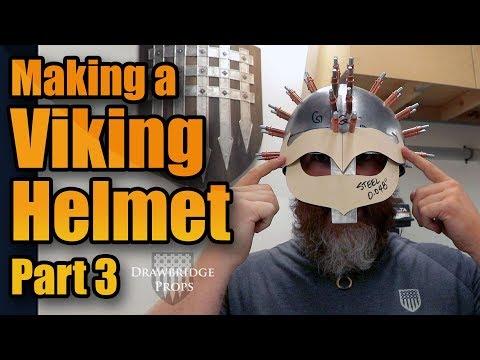 How to make Armor: MAKING A FULL STEEL VIKING HELMET!!! Part 3