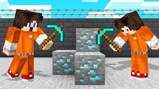 STUCK In A MINECRAFT PRISON! (Mining DIAMONDS)