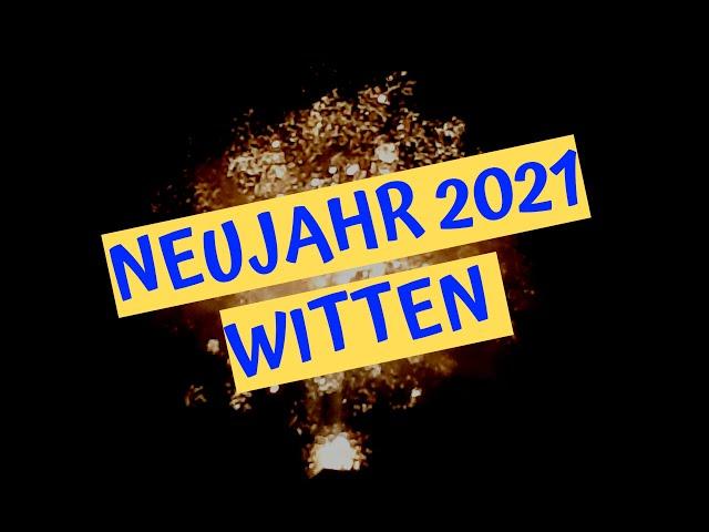 Witten: Feuerwerk (Neujahr 01.01.2021)