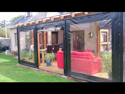 2015 Deck Build - with polycarbonate roof and PVC side covers
